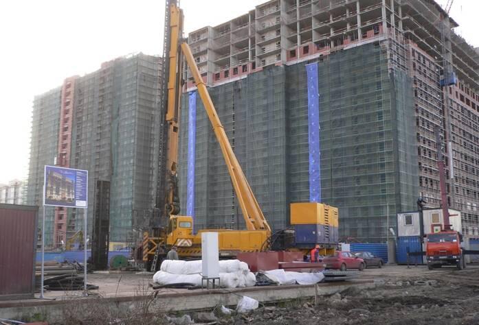 Строительство ЖК «Дом на Фрунзенской» (октябрь 2014)