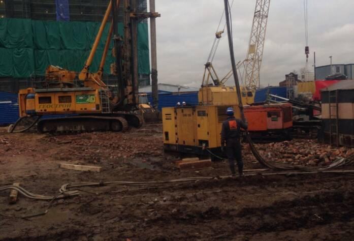 Строительство ЖК «Дом на Фрунзенской» (ноябрь 2014)