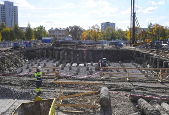 Строительство ЖК «Тойве» (сентябрь 2014)