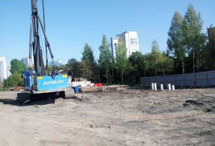 Строительство ЖК «Сириус» (сентябрь 2014)