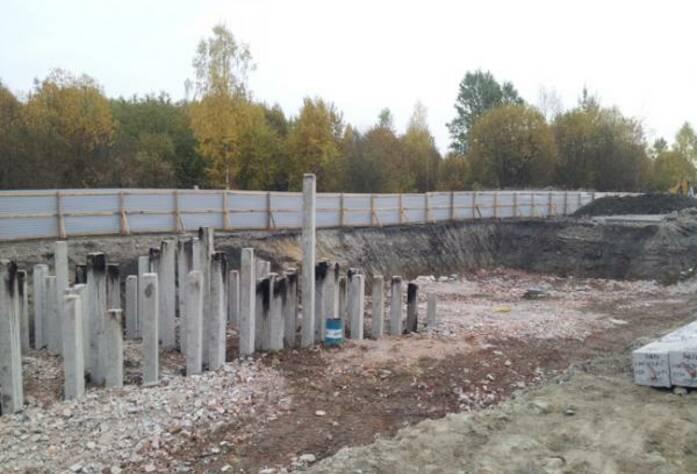 Строительство ЖК «Сириус» (октябрь 2014)
