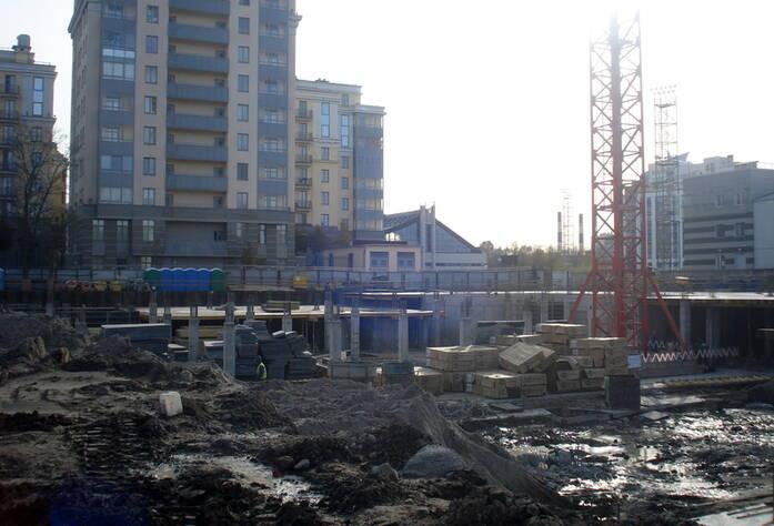 Строительство корпуса А ЖК «The Residence» (октябрь 2014)