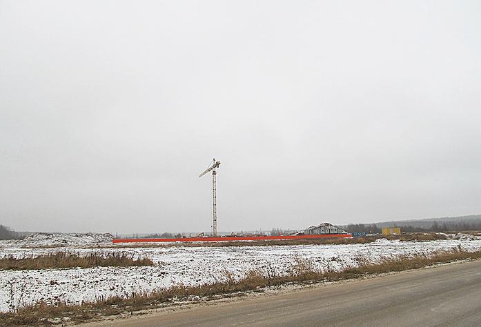 Ход строительства I очереди ЖК «Ясно. Янино» (декабрь 2014)