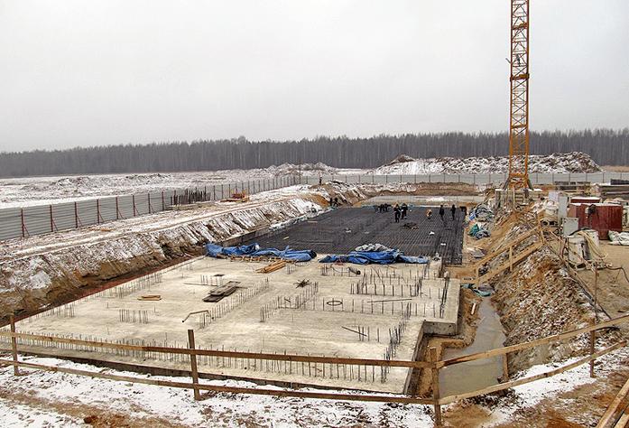 Ход строительства корпуса 7.1 ЖК «Ясно. Янино» (декабрь 2014)