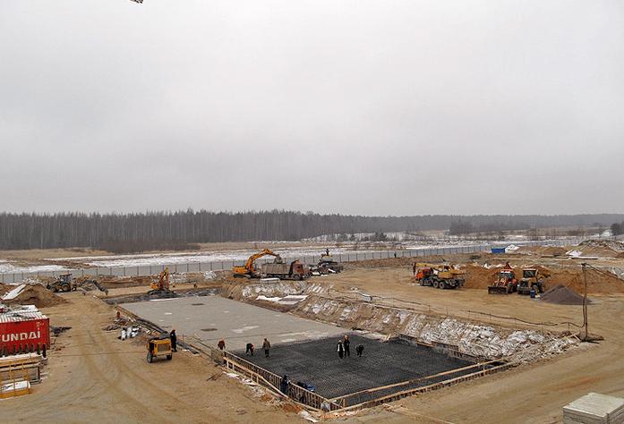 Ход строительства корпуса 7.2 ЖК «Ясно. Янино» (декабрь 2014)