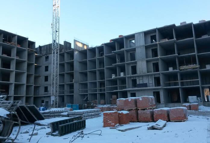 Ход строительства ЖК «Ямбург Сити» (январь 2014)