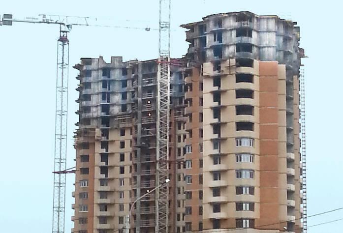 Ход строительства ЖК «Бумеранг» (08.12.2014)