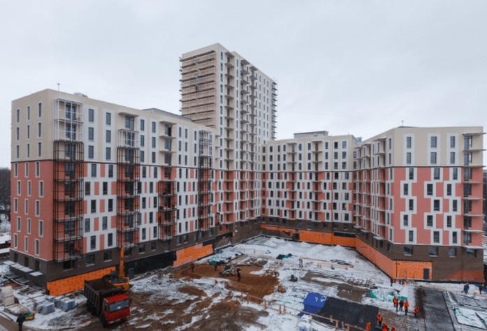 Строительство паркинга в ЖК «Сандэй» (январь 2015)