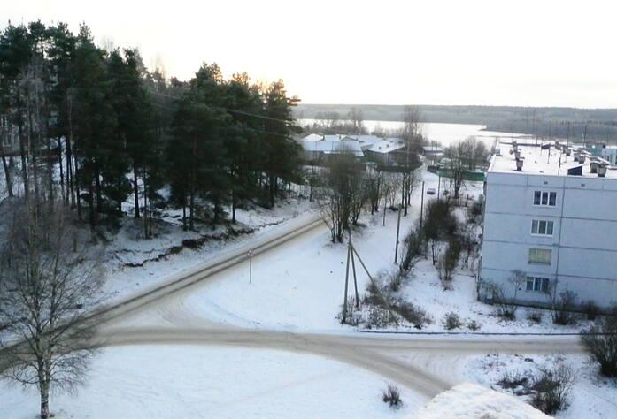Вид на озеро с 3 корпуса ЖК «Кирккоярви»