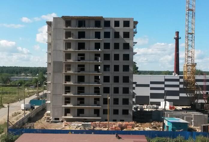 Строительство ЖК «Новоселье: городские кварталы». Квартал «Бета» (август 2015 г.)
