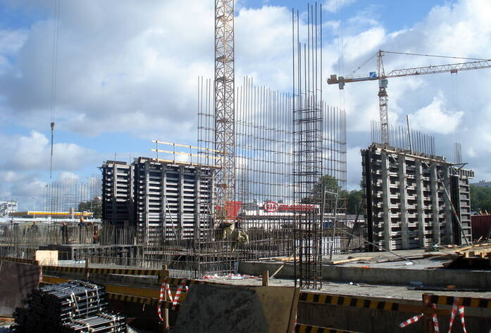 Строительство 1 корпуса ЖК «Stockholm» (август 2015)