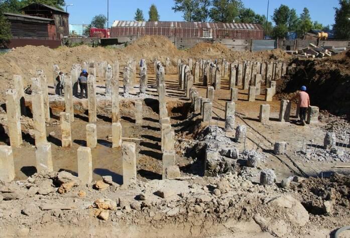 Место строительства жилого комплекса «Янинский каскад-4» (24.08.15)