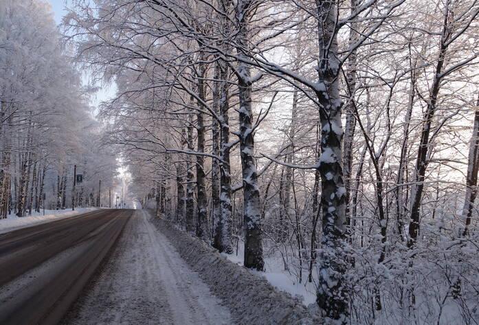 Дорога в ЖК «Дом с фонтаном» (январь 2016)