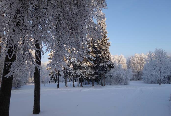 Территория у ЖК «Дом с фонтаном» (январь 2016)
