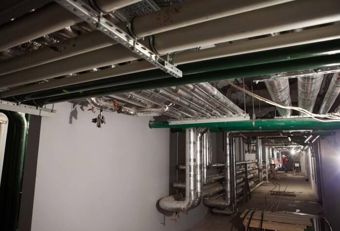 ЖК «LEGENDA на Оптиков, 34»: технический этаж (декабрь 2015)
