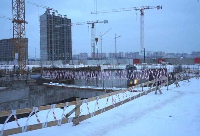 Ход строительства ЖК «GreenЛандия 2»: корпус 2.4 (февраль 2016)