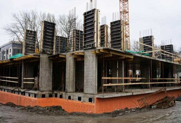 МФК «Елагин апарт»: ход строительства (февраль 2016)