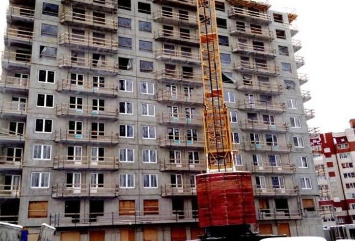 ЖК «Эланд»: ход строительства 9 корпуса (25.02.2016)