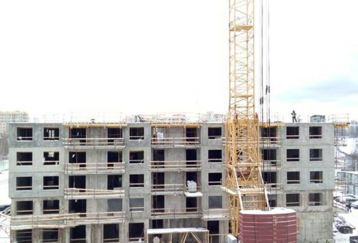 ЖК «Эланд»: ход строительства 10 корпуса (25.02.2016)