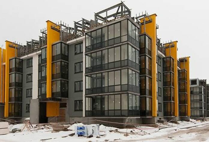 ЖК «Inkeri»: ход строительства корпуса 1 (февраль 2016)
