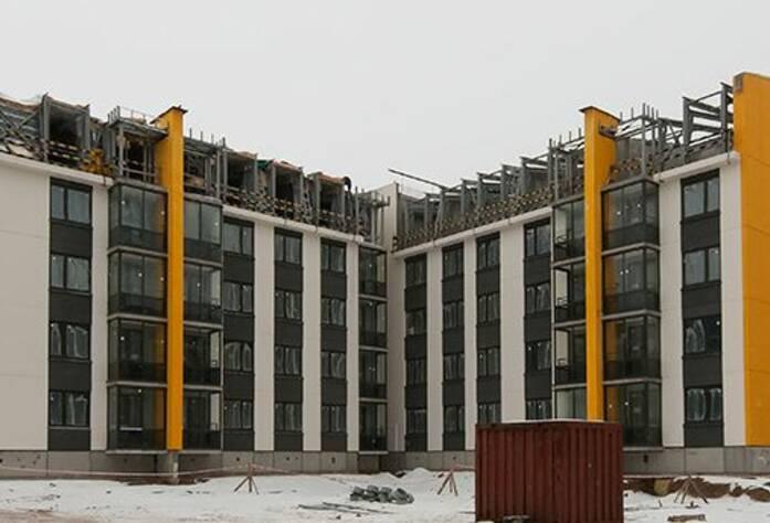 ЖК «Inkeri»: ход строительства корпуса 2 (февраль 2016)