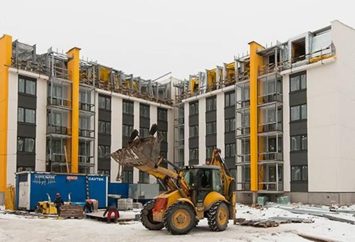 ЖК «Inkeri»: ход строительства корпуса 3 (февраль 2016)