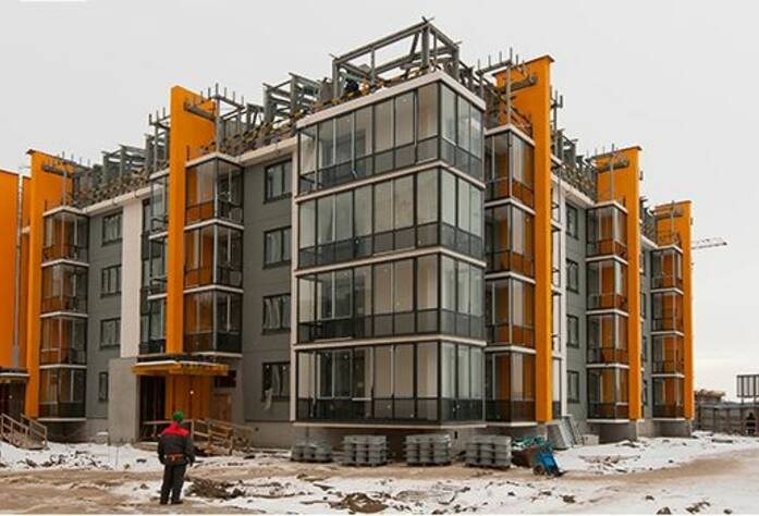 ЖК «Inkeri»: ход строительства корпуса 8 (февраль 2016)