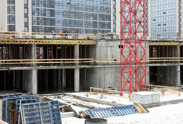 МФК «Salut!»: ход строительства 5 корпуса (28.02.2016)