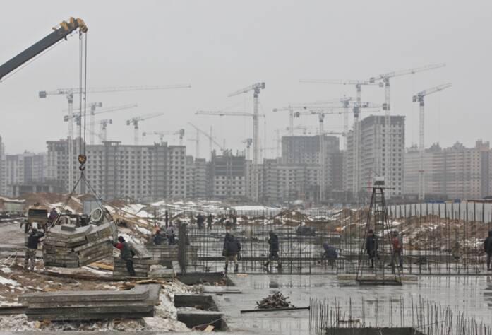 Ход строительства ЖК «Ленинградская перспектива»: II очередь (март 2016)