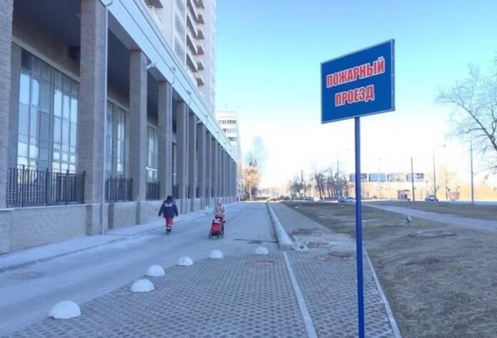 ЖК «Полежаевский Парк»: придомовая территория (23.03.2016)