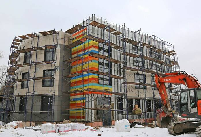 ЖК «Нью-Тон»: ход строительства детского сада (01.03.2016)