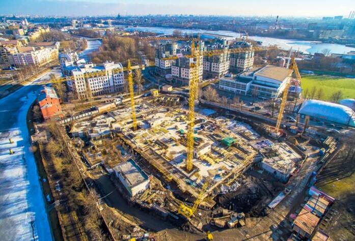 ЖК «Ostrov»: ход строительства (14.03.2016)