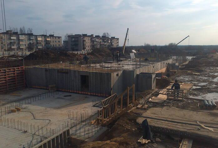 Ход строительства ЖК «Дом с фонтаном» (март 2016)