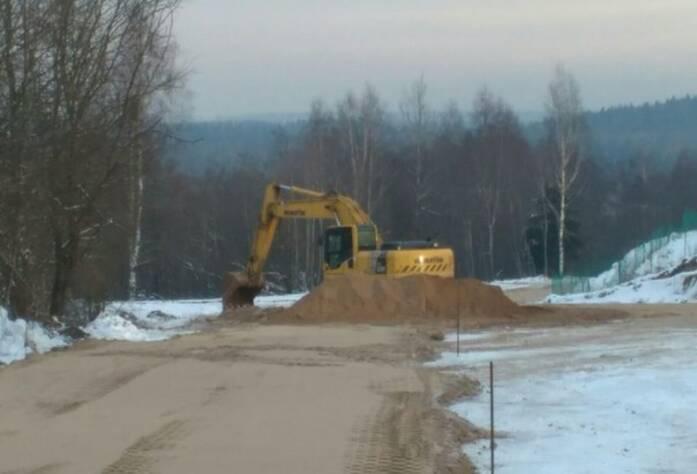 ЖК «Близкое»: подъездная дорога (февраль 2016)