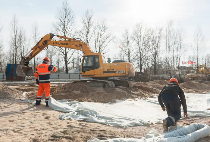 Ход строительства ЖК «Новое Колпино» (30.03.16)