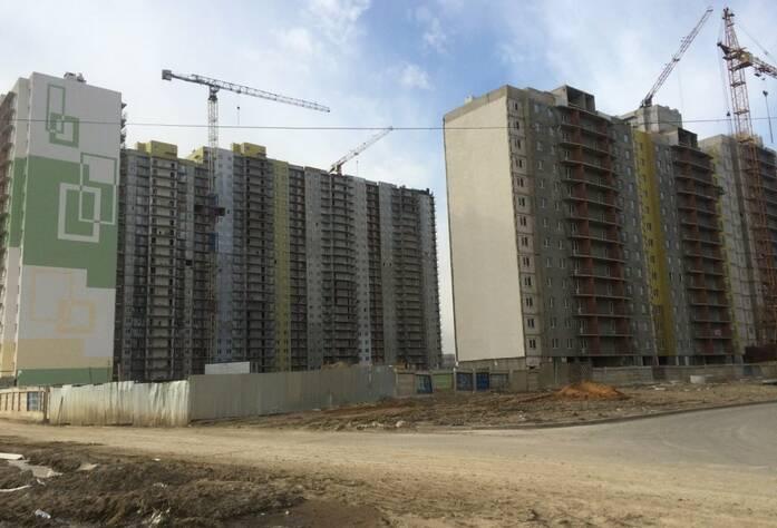 ЖК «Шушары» («Дальпитерстрой»): ход строительства, участок 463 корпус 1 (март 2016)