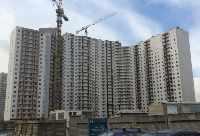 ЖК «Шушары» («Дальпитерстрой»): ход строительства корпуса 62 (60.1) (март 2016)