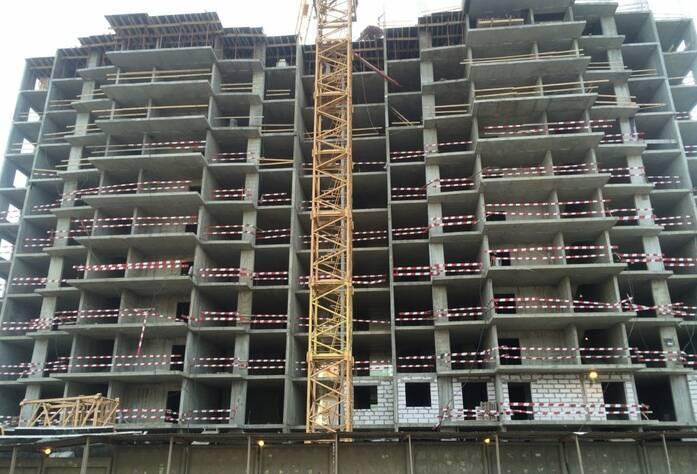ЖК «Шушары» («Дальпитерстрой»): ход строительства корпуса 66 (март 2016)