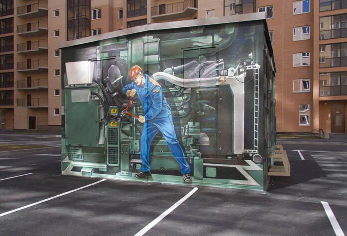 ЖК «Новый Оккервиль»: Новые арт-объекты во дворе 3-го пуска, 3 очередь (29.03.2016)