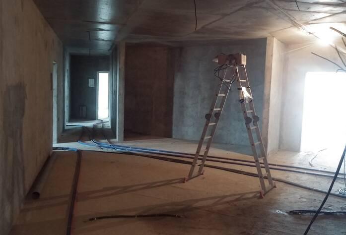ЖК «Пифагор»: ход строительства внутри комплекса (10.03.2016)