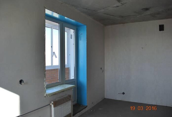 Жилой комплекс «Новый Петергоф»: ход строительства корпуса 1.2 (III очередь) (16.03.2016)