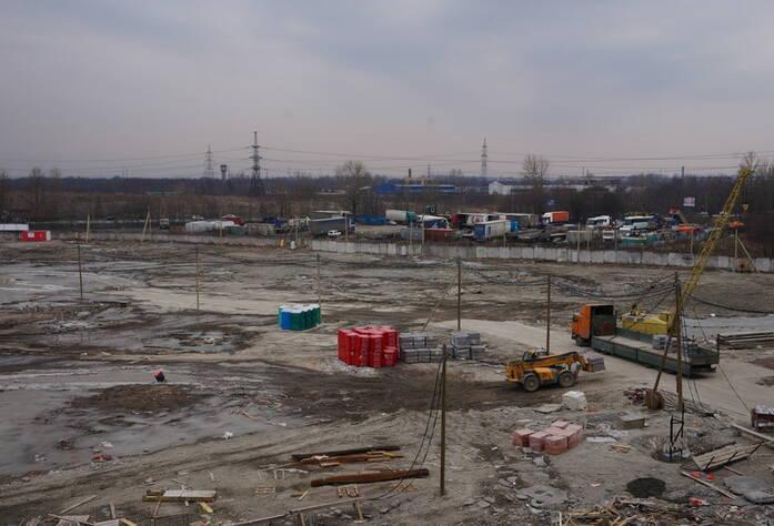 ЖК «Невские Паруса»: строительная площадка корпусов 1.1, 1.2, 1.3