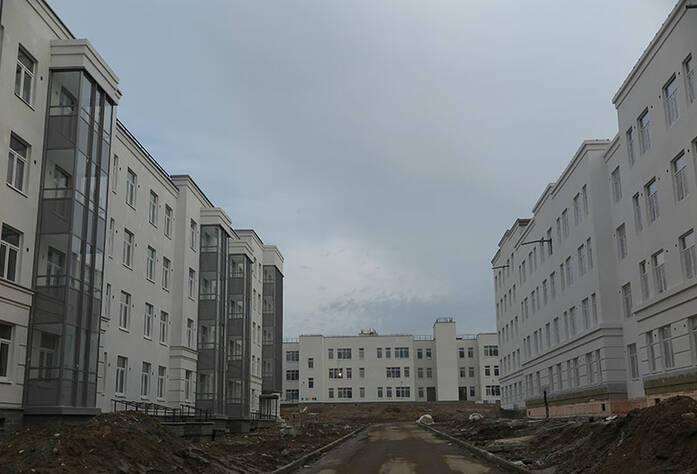 Малоэтажный ЖК «Новое Сертолово»: общий вид корпуса 4 первой очереди