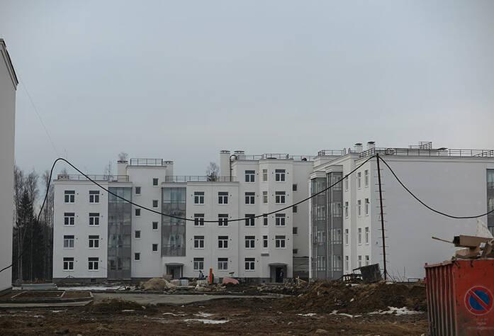 Малоэтажный ЖК «Новое Сертолово»: общий вид корпуса 6 первой очереди