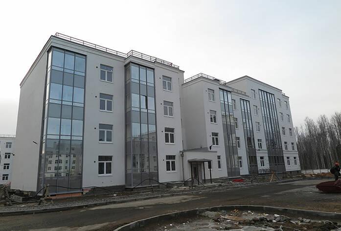 Малоэтажный ЖК «Новое Сертолово»: общий вид корпуса 7 первой очереди