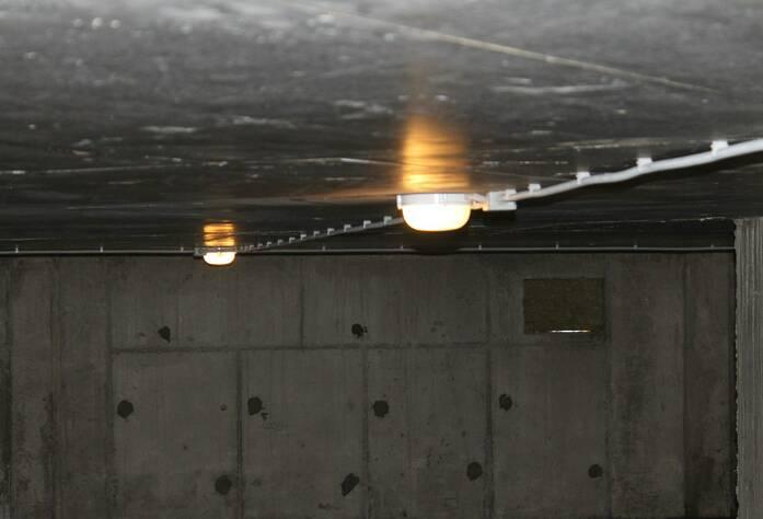 ЖК «Черничная поляна»: 9 корпус, разводка электрических сетей (техподполье)