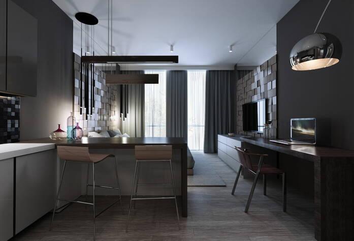 МФК «Prime Residence»: вариант отделки в стиле Минимализм, визуализация