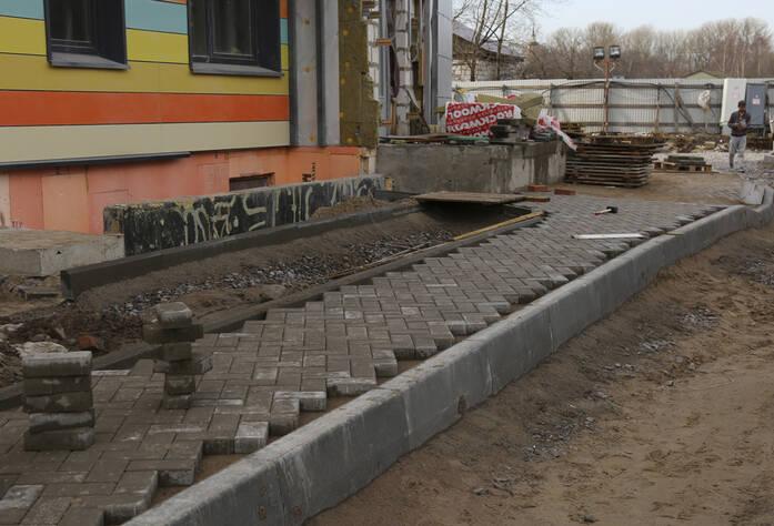 ЖК «Нью-Тон»: благоустройство придомовой территории