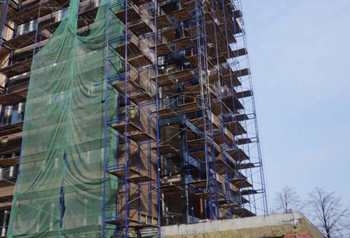 ЖК «The Residence»: ход строительства корпуса А, внешний вид