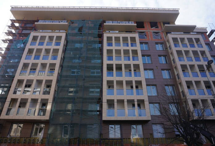 ЖК «The Residence»: ход строительства корпуса Б, внешний вид
